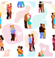 love hugs seamless pattern vector image vector image