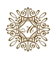 Luxury monogram template vector image vector image