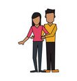 man woman couple avatar icon image vector image vector image