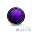 modern glass button vector image