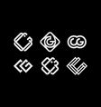 modern professional set monogram cg on black vector image
