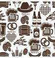 Oktoberfest seamless background pattern vector image