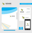 paper plane business logo file cover visiting vector image vector image