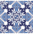 pattern in style mediterranean tiles vector image