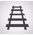 railway track icon vector image vector image