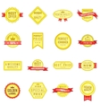Retail label icons set in cartoon style vector image vector image