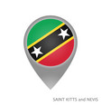 saint kitts and nevis point vector image