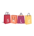 Sale in Shop Concept in Flat Design vector image vector image