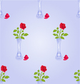 Seamless texture vase with rose blue background vector image vector image