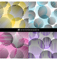 set of abstract oblique black stripes pattern vector image vector image