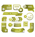 Set of green progress version step icons eps 10 vector image vector image