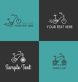 Set of Line Art Badge or Logo Templates with vector image vector image