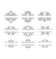 set of line monograms vintage floral frames vector image vector image