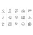 smart home hand drawn outline doodle icon set vector image vector image