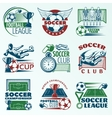 Soccer Colored Emblems vector image vector image