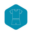 sport uniform icon outline style vector image vector image