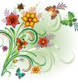 spring bright background vector image