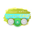spring sale discount 45 percent lower price banner vector image