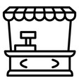 street shop kiosk icon outline style vector image