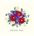 Summer background with a bouquet of flowers vector image vector image