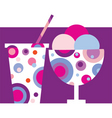 sundae and soft drink vector image vector image