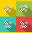 target with arrow business success concept vector image vector image