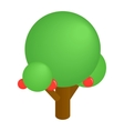 Tree isometric 3d icon vector image vector image