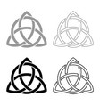 triquetra in circle trikvetr knot shape trinity vector image vector image