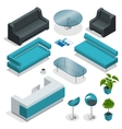 VIP office furniture collection with tables vector image vector image