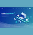 web cloud technology business vector image vector image