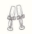 wedding wineglasses vector image