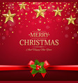 xmas postcard with golden stars vector image