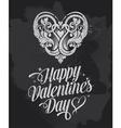 Retro Chalkboard Valentines Day design vector image