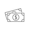 dollar banknote icon vector image