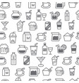 line style icons seamless pattern baverage vector image