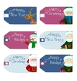 tag christmas set vector image