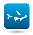 Trout fish icon simple style vector image