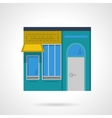 Storefronts flat color icon Cafe facade vector image