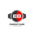 ab letter logo design icon fitness and music
