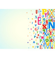 Alphabet Background vector image vector image
