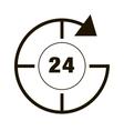 around clock icon vector image