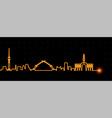 baghdad light streak skyline