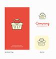 basket company logo app icon and splash page vector image vector image