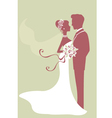 Beautiful bride and groom vector image vector image