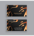 black and copper business card design vector image