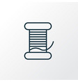 bobbin icon line symbol premium quality isolated vector image
