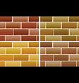 Brick designs vector image vector image