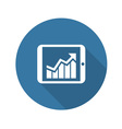 Business Chart on Tablet Flat Design vector image