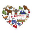 canada travel destination canadian national vector image
