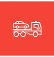Car towing truck line icon